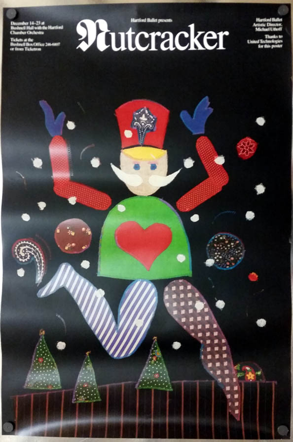 Hartford Ballet The Nutcracker poster Michael Uthoff director 1980s