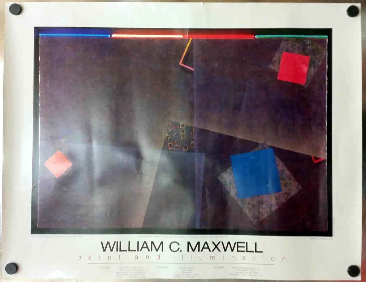 Image for William C Maxwell Paint & Illumination exhibit poster 1983