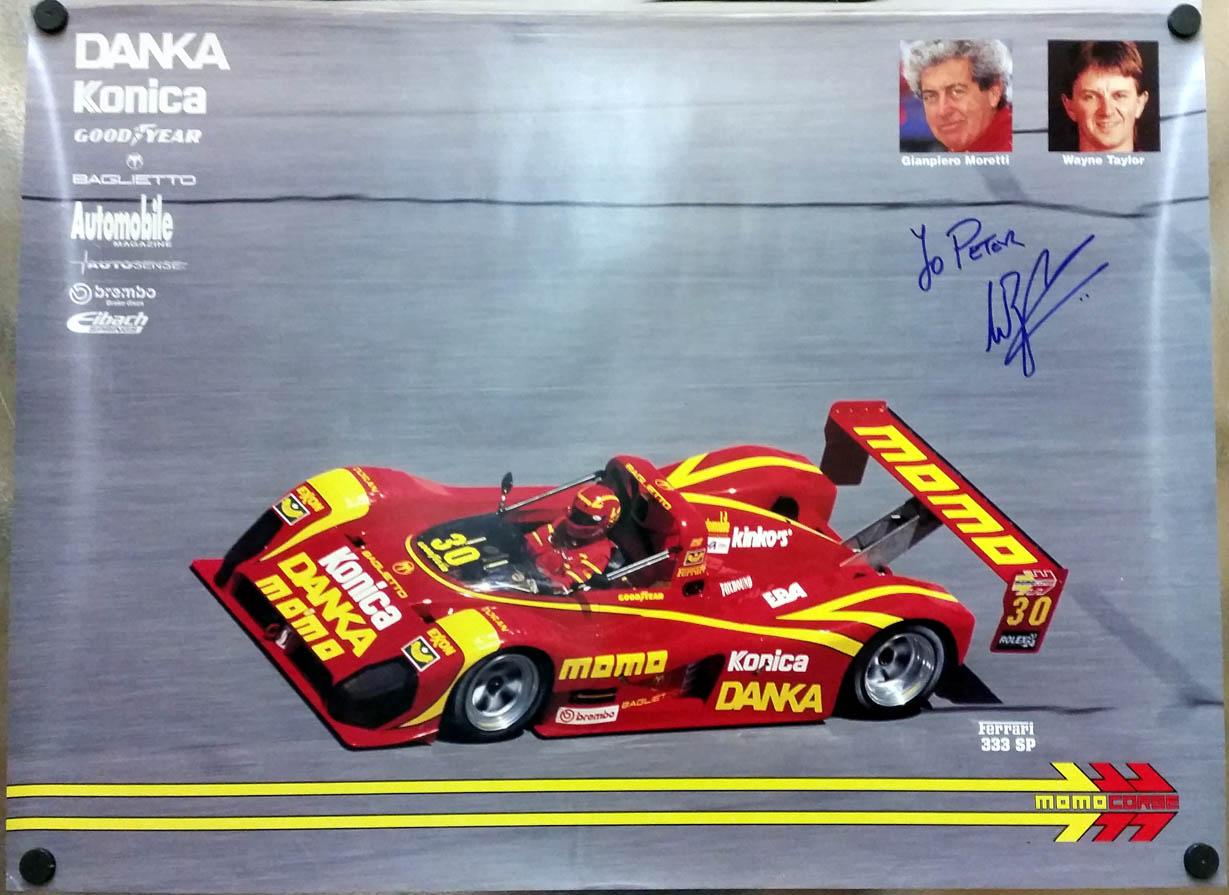 Image for SIGNED Wayne Taylor Ferrari SP #011 #30 Momo Baglietto Team poster 1995