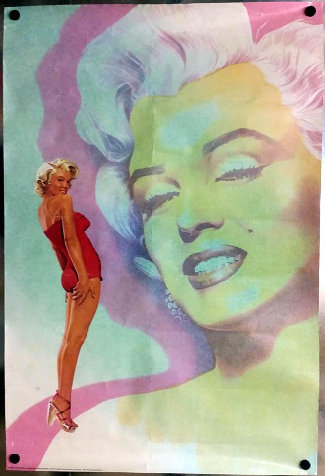 Marilyn Monroe poster by Steve Gulbis / Athena International London 1985