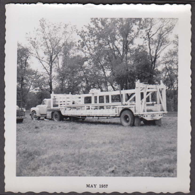 Mills Bros Circus tentpole truck backlot snapshot 1957 by Johny Vogelsang