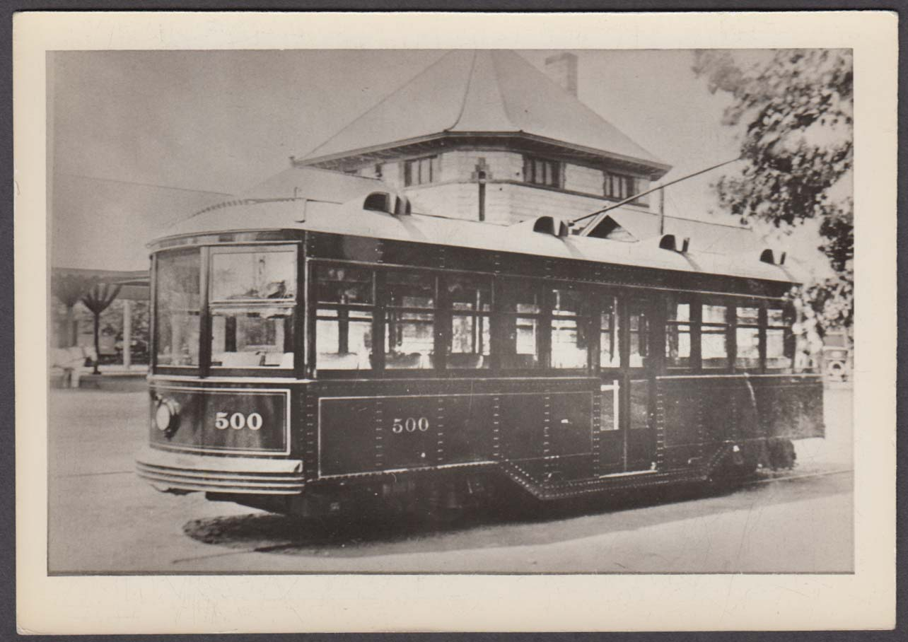 #500 Laconia Car Works experimental streetcar photo NH ca 1910s