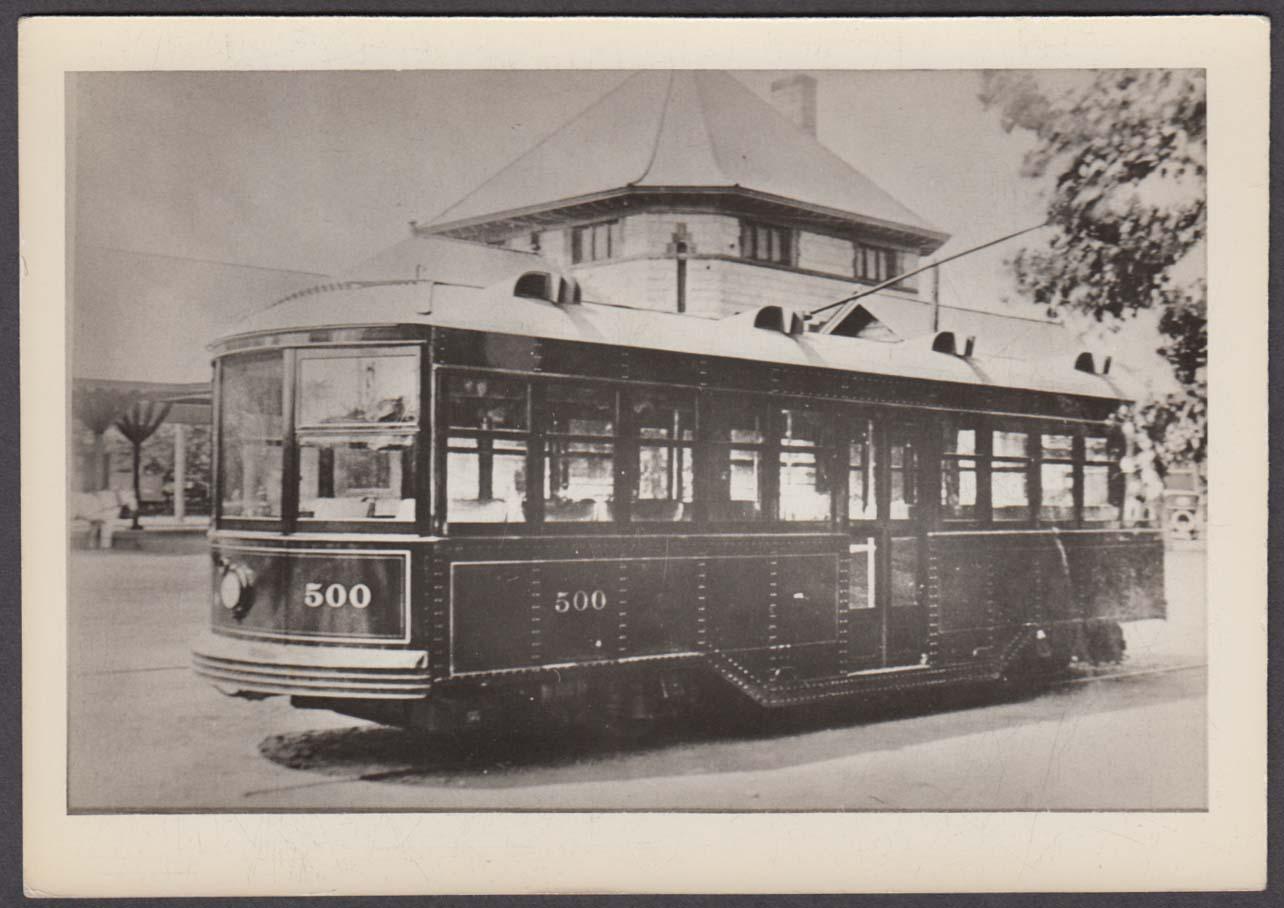 #500 Laconia Car Works experimental streetcar photo NH ca 1910s