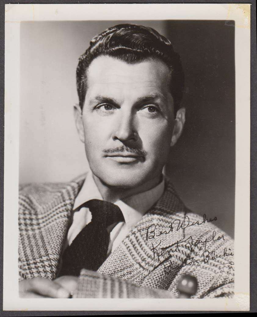TV star Kent Taylor of Boston Blackie series fan club snapshot 1950s