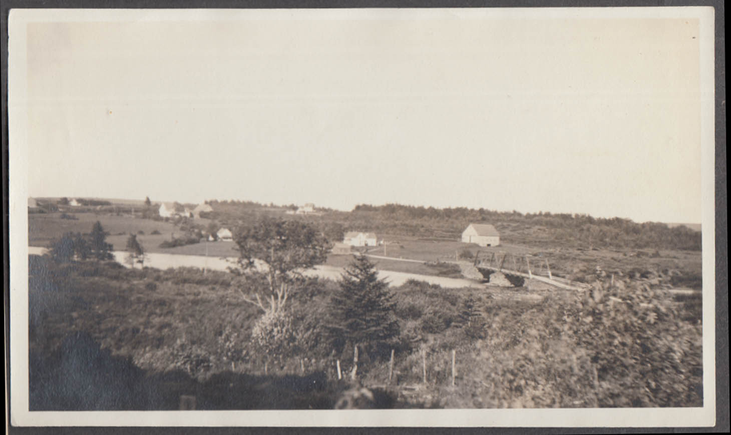 Looking upriver from West Side Road Kemptville ON snapshot 1932