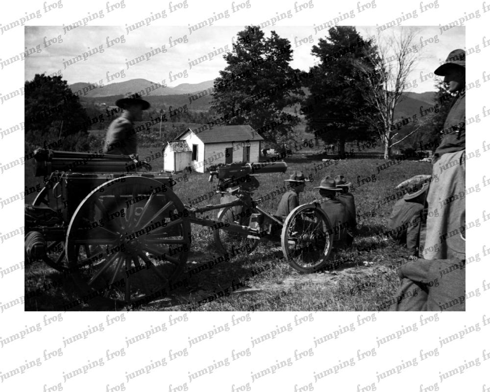 Machinegun training Fort Ethan Allen VT 1931 8x10