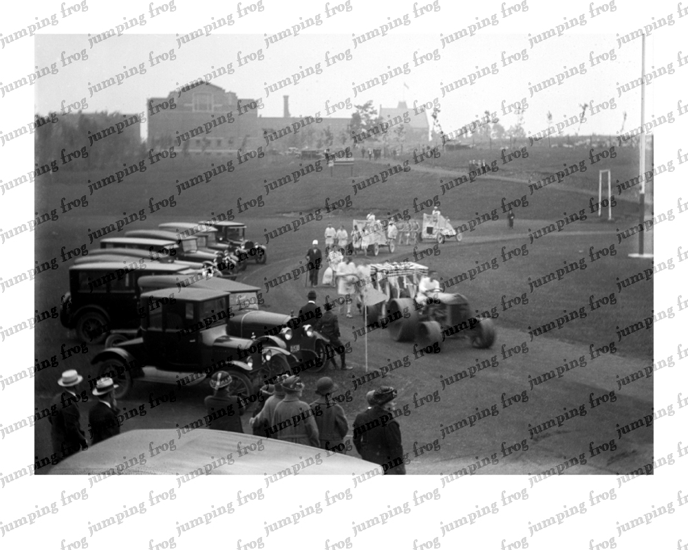 Wesleyan homecoming parade Middletown CT 8x10 ca 1920s