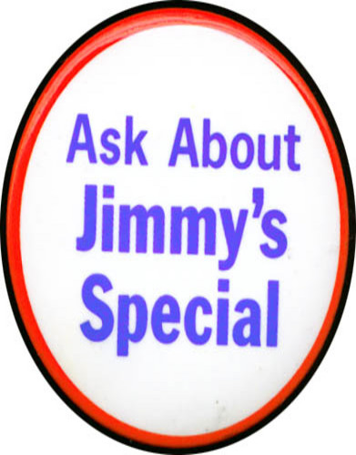 Image for Ask About Jimmy's Special pinback 70s?