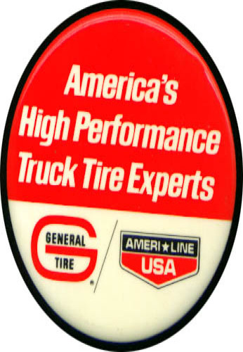 Image for General Truck Tires AmeriLine pinback 3""