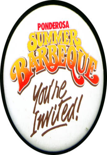 Image for Ponderosa Summer Barbecue pinback 3""