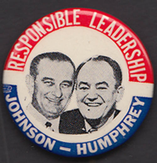 Image for Johnson-Humphrey Presidential pinback 1 3/4""
