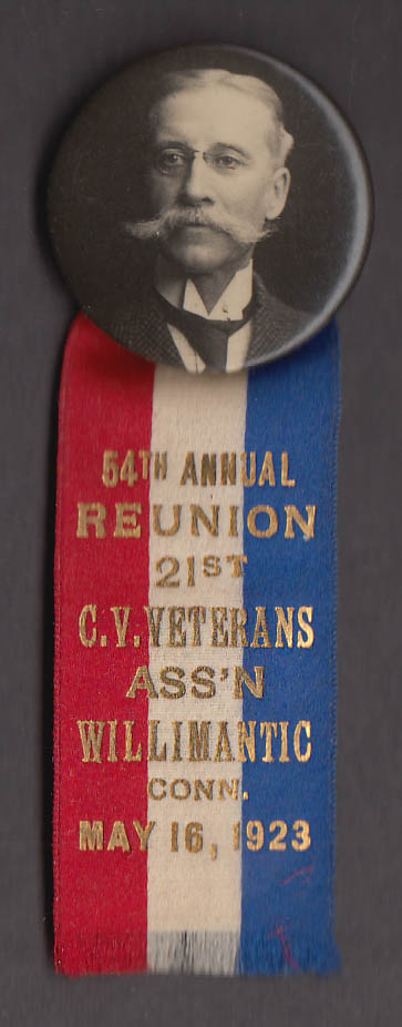 54th Annual Reunion 21st CT Volunteer Infantry pin Willimantic 1923