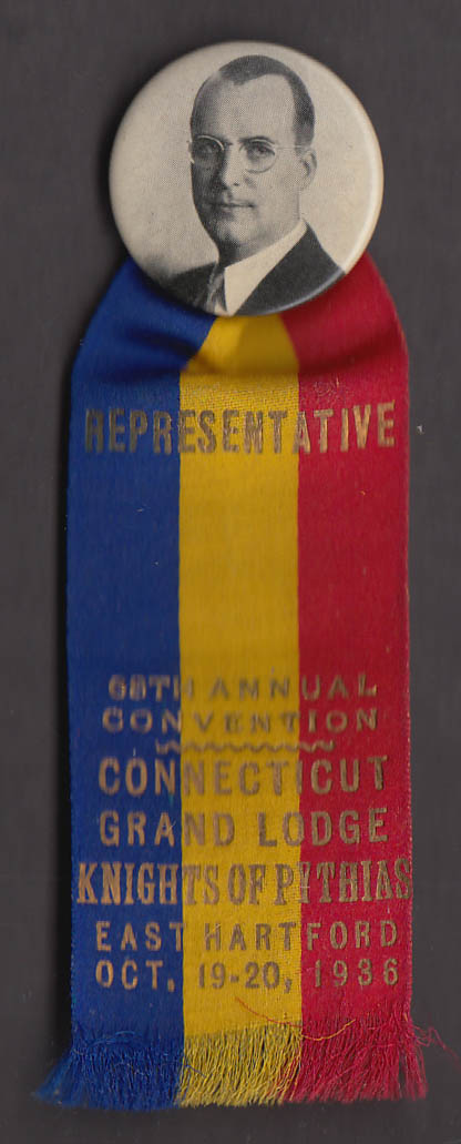 Knights of Pythias 68th Grand Lodge Convention E Hartford Representative 1936
