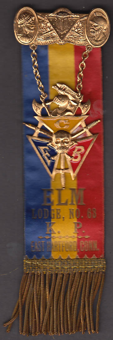 Image for Knights of Pythias Elm Lodge #63 Convention East Hartford CT badge