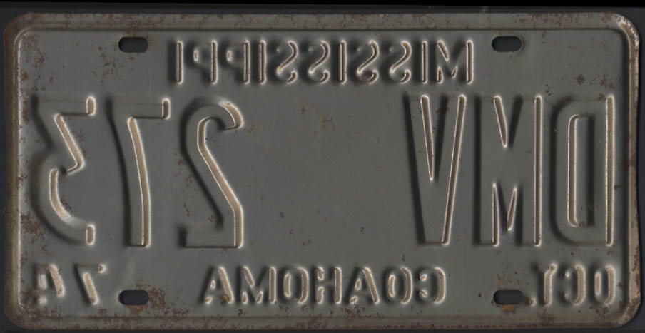 Image for 1974 Mississippi Coahoma County license plate DMV 273