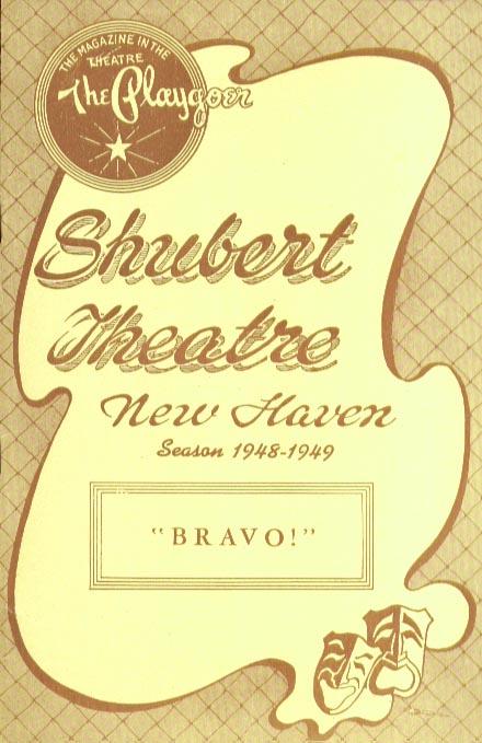 Image for Shubert Theatre Bravo! Oscar Homolka playbill 10/48