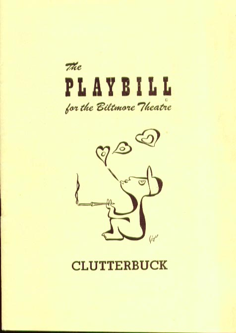 Image for Clutterbuck Playbill Arthur Margetson 12/26/49 Biltmore