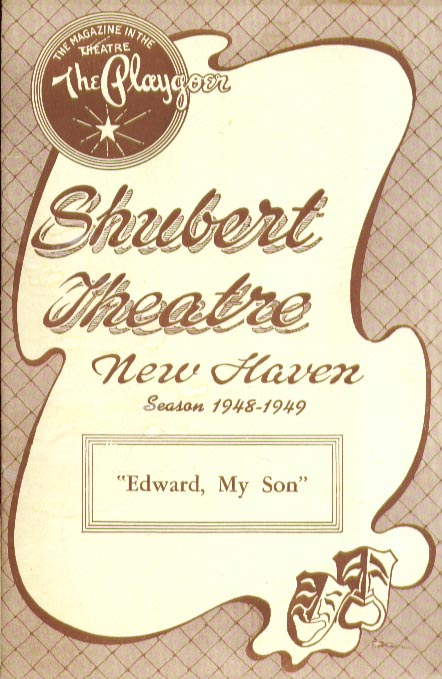 Edward My Son Shubert New Haven 9/48 Robert Morley ++