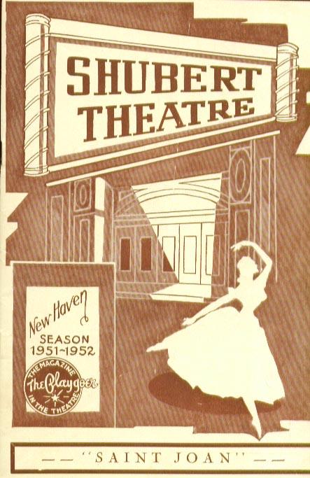 Image for Saint Joan Shubert New Haven CT playbill 9/51 Uta Hagen
