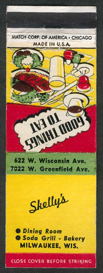 Skelly's Good Things to Eat Milwaukee WI matchcover