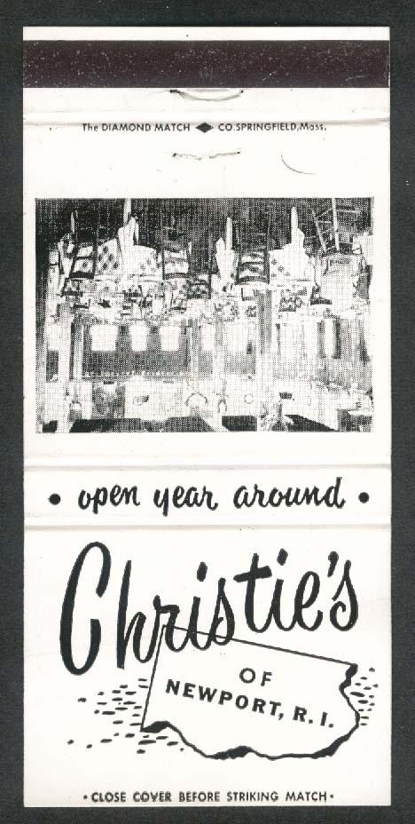 Christie's Restaurant Newport Rhode Island matchcover