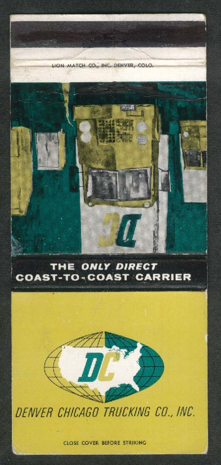 Denver Chicago Truckign Co Inc matchcover