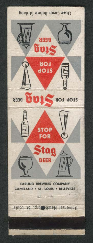Stop for Stag Beer matchcover