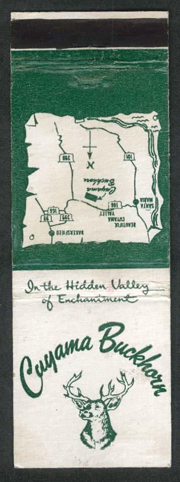 Cuyama Buckhorn Russ Princeton CA Hidden Valley of Enchantment matchcover