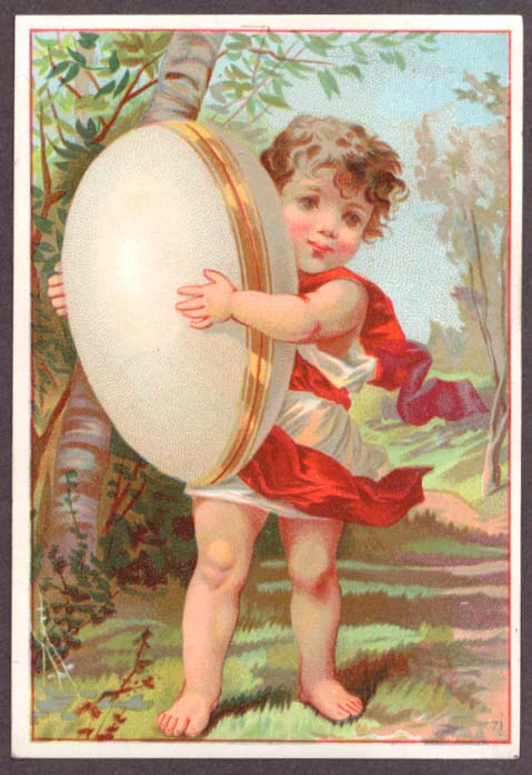 Image for Child carries side-opening egg trade card