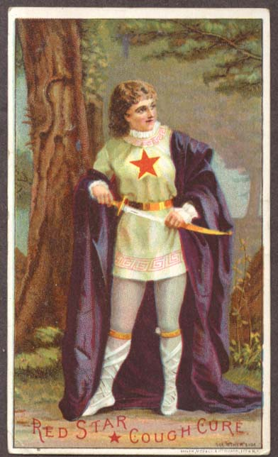 Image for Red Star Cough Cure swordsman in cape trade card
