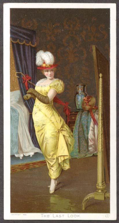 Image for Last Look Pretty Girl Newsboy Plug Tobacco trade card