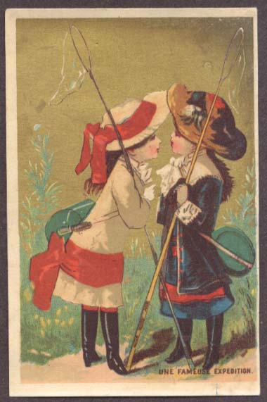 Image for Fameuse Expedition 2 girls fishing rods trade card