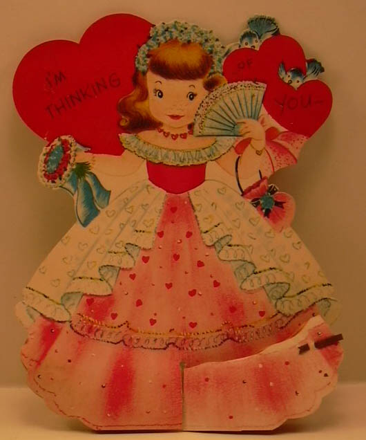 Image for Thinking of You honeycomb gown stand-up Valentine