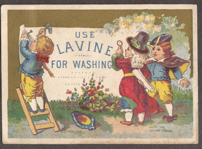 Image for Lavine Soap kids post sign Hartford CT trade card