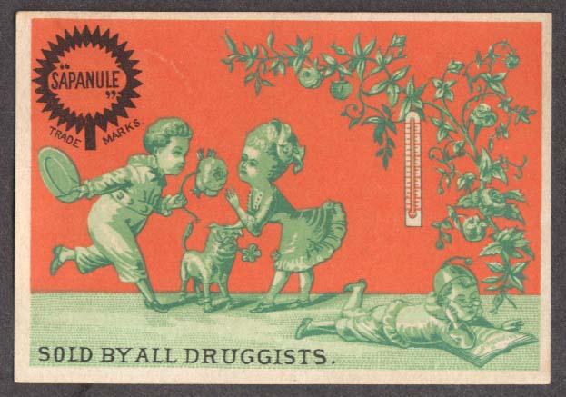 Image for Sapanule Glycerine Lotion children dog rose trade card