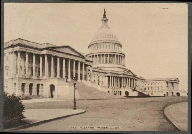 Capitol Building Washington DC Hood's Sarsaparilla trade card #2