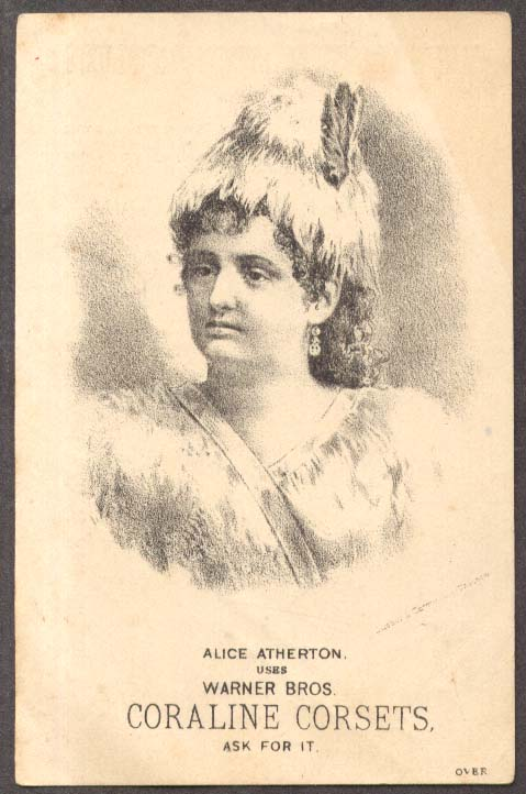 Alice Atherton for Warner's coraline Corsets trade card