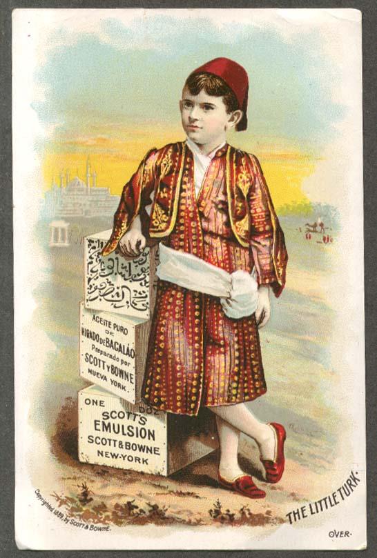 Image for Scott's Emulsion trade card Little Turk boy