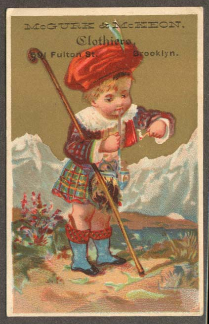 McGurk & McKeon Clothiers Brooklyn NY trade card kilt