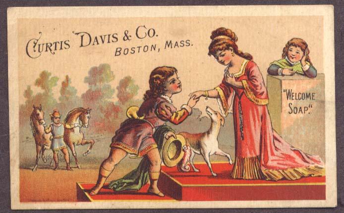 Image for Curtis Davis Welcome Soap Boston trade card princess