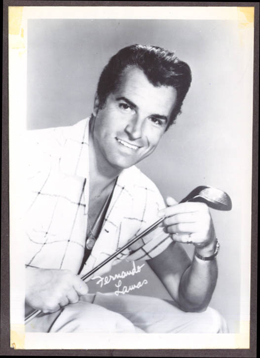 Actor Fernando Lamas studio fan club snapshot 1950s