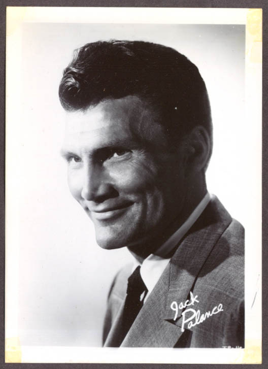 Actor Jack Palance studio fan club snapshot 1950s
