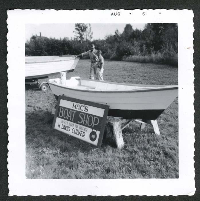 Mac's Boat Shop Built Order David Culver snapshot 1961