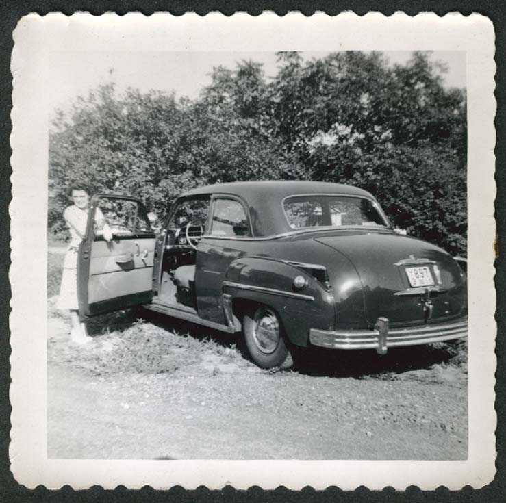 1949 Plymouth CT license plate Y3 897 snapshot 1950s