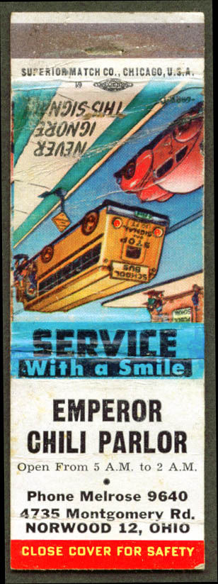 Emperor Chili Parlor Norwood OH matchcover