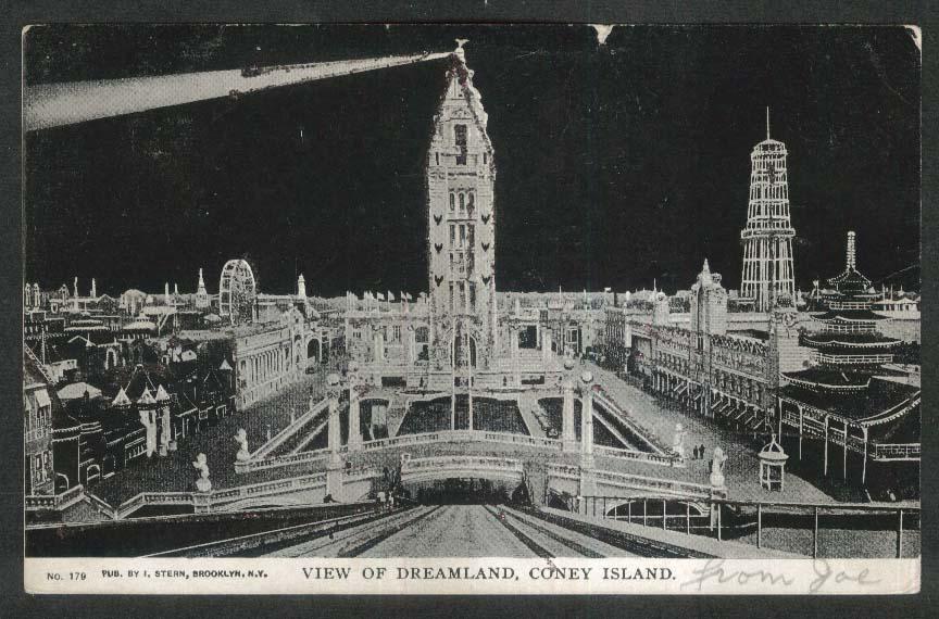 Image for Dreamland Coney Island NY postcard 1905