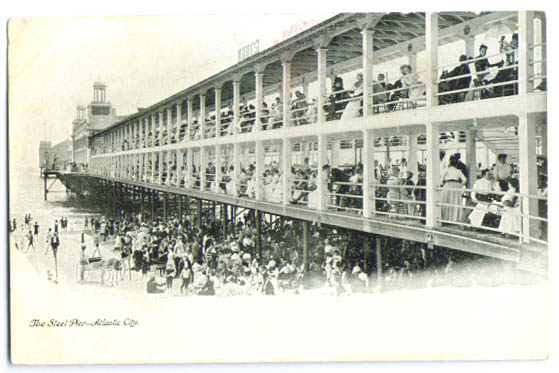 Image for Steel Pier Atlantic City NJ postcard about 1910