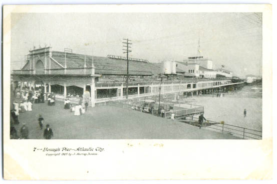 Image for Young's Pier Atlantic City postcard 1905
