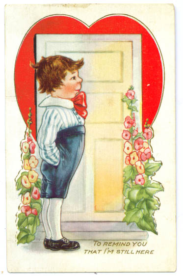 To Remind You Valentine postcard 1910s