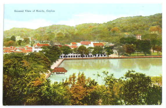 Image for General View Kandy Ceylon postcard 1920s?